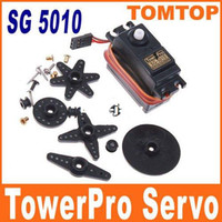 Cheap SG 5010 TowerPro Torque Coreless Servo for RC Plane Helicopter Car Freeshipping Dropshipping wholesale