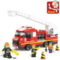 Plastics Blocks Yes Sluban Blocks Fire Series Ladder truck 267pcs set M38-B0221 Children's Enlightenment Educational Building blocks Toys