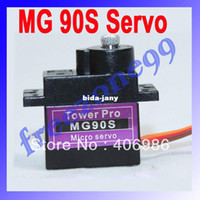antenna plane - Fraser MG90S G Metal Gear Servo For Rc Helicopter plane boat car MG90 FZ0381 Dropshipping