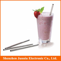Wholesale Hot Staight Stainless Steel Straw Reusable Drinking Straw Straight Straw With The Brush Sets