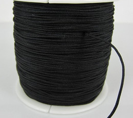 Wholesale 160M 170yards lot balck Chinese Knot String Nylon Cord Rope for Shamballa Bracelet