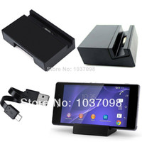Wholesale Black Magnetic Desktop Charger Charging Dock Stand Station Holder Cradle for Sony Xperia Z2