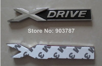 Wholesale DHL piece black red metal chrome Xdrive X drive emblem badge sticker For Series X1 X3 X5 E70 X6 E71 Decoration