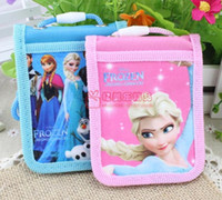 Wholesale 1405c Frozen ice ice princess Romance fold sleeve cute student ID card pack card sets public transport with lanyard