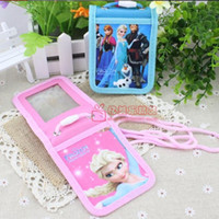 Card Holders public - 1405c Frozen ice ice princess Romance fold sleeve cute student ID card pack card sets public transport with lanyard