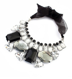 Imitation Crystal Gem Bib Choker Collar Necklaces Statement Jewelry For Laides