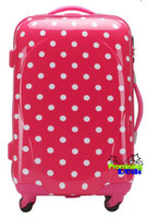 Wholesale New quot Pink Polka Dot Luggage Baggage Trolley Roller Christmas Gifts