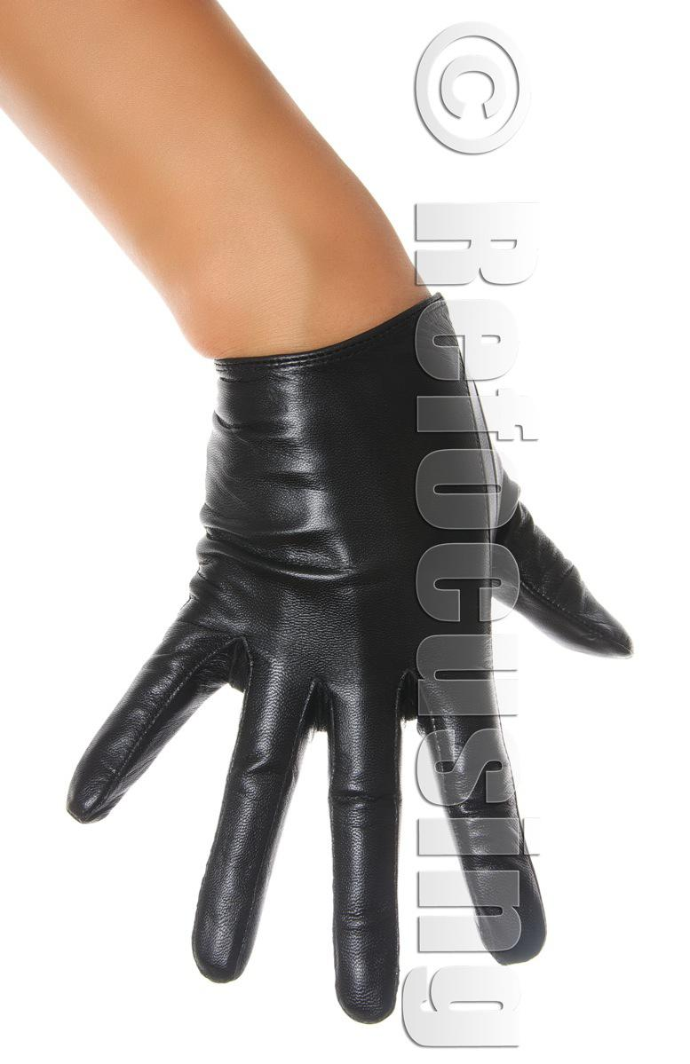 Black leather driving gloves - Womens Black Leather Driving Gloves Sexy Slim Fit Free Shipping