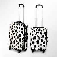 Wholesale 20 quot Cartoon Cow Grain Universal wheel rolling wheel Suitcase Luggage