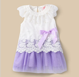 Wholesale Summer Small Toddler Baby Dress Cotton With Net Yarn Baby Girl Princess Dress Year Fit Height Kids Clothing GX277