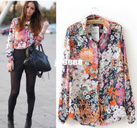 Women 100% Linen Button new 2014 Women s Vintage Floral Print dudalina hot blusas femininas flower s&shirts brand free shipping to brazil