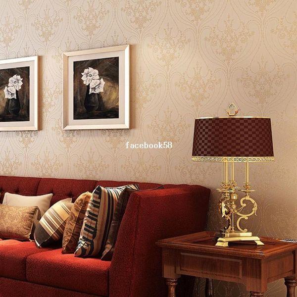 Alta qualità vintage classic non tessuto glitter wallpaper moderna ...
