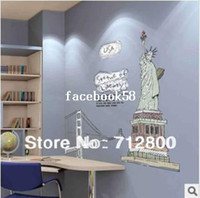 Wholesale New Fashion Wall Sticker cm New York Statue of Liberty Living Room Art Mural Wall Decor Decals Decorative Stickers