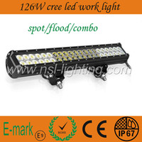 60 Degree 6000K 126W high quality 126W 20'' 10000LM Off road CREE LED Light bar 12V 24V for ATV 4x4 Jeep 4WD Offroad Tractor Marine Truck LED LIGHTS