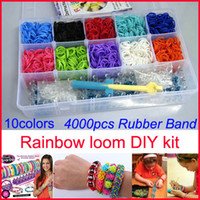 8-11 Years rainbow loom rubber bands - Rainbow Loom kit Rubber band loom Bands bracelet christmas gift for children handmade DIY Wrist Bands bands C S clips hook loom