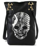 Clutch Bags Women Plain New Style Fashion Punk Black Skull Face Designer Pu leather Handbag Women's Shoulder Bag,Lady Cross Body Bag Free Shipping