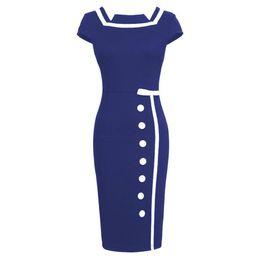 Wholesale Fashion Women Vintage Dress Cocktail dress for Office Work ladies Clothing S XL Plus size Dropship