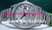 Wholesale New Style Men s Full Diamond Watch White Gold President