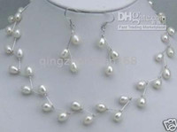 Earrings & Necklace asian match - New Popular real pearl necklace match pearl earring silver