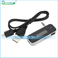 Wholesale Wireless mm Car FM Transmitter Radio For iPod iPad iPhone S Galaxy S2 S3 HTC Computer Audio Car FM Transmitter
