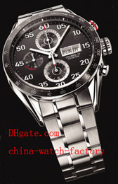 Wholesale Luxury AAA Top Quality Wristwatch TAG Calibre Day Date Stainless Steel Japan Quartz Chronograph Working Mens Watch Men s Watches
