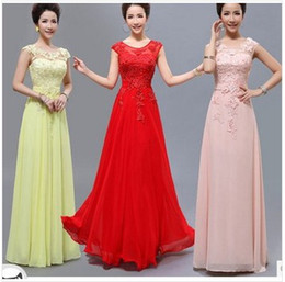 Wholesale 2014 New water soluble Lace Pearl Formal Dress Slit Neckline Long Evening Dress
