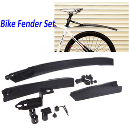 Wholesale Bicycle Fenders Cycling Mountain Bike Front Rear Mud Guards Mudguard Set Black Universal H10573