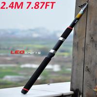 Wholesale Portable M FT Telescopic Sea Fishing Rod Travel Glass Fiber Spinning Fishing Pole H10606