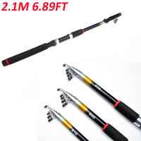 fishing pole - 2 M FT Portable Telescopic Saltwater Sea Fishing Rod Glass Fiber Travel Spinning Fishing Pole H10605