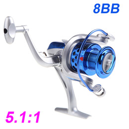 2015 8BB Ball Bearings ST4000 5.1:1 Fishing Reel Left/Right Interchangeable Collapsible Handlle Fishing Spinning Reel DHL H10520