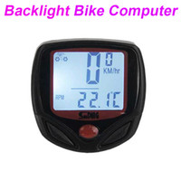 Wholesale Sunding Waterproof Functions Digital LCD Backlight Wired Bike Bicycle Cycle Computer Bike Odometer Speedometer SD AE H10445