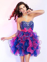 Short Puffy Colorful Prom Dresses Reviews  Short Puffy Colorful ...