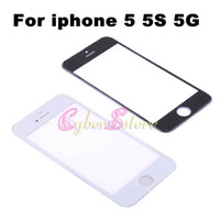 For Apple iPhone Touch Screen  New Black and White Touch Screen LCD Outer Front Glass Screen Lens Repair Parts Replacement For iphone 5 5S 5G