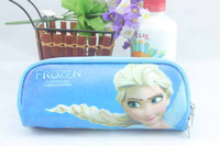 Fabric free shipping  2014 Frozen princess Elsa Pencil case Bag Girl's Cartoon Fashion Pencil Bag or cosmetic bag