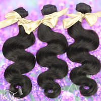 Wholesale Virgin Indian Human Hair Cheap Beauty Supplies Natural Black Color Hair Weft Body Wave Mix Length DHL Fast Shipping