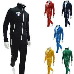 Wholesale New Style Men s European style light colored Zipper cardigan Pants Sport suit tracksuit men s sportswear SIZE M XXL