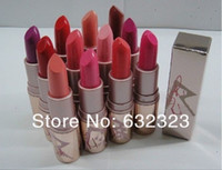 Wholesale 12pcs Brand Lip stick NEW Makeup rihanna RiRi Lipstick lip balm color with english color name mix color