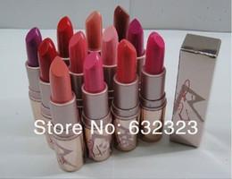Wholesale 12pcs Brand Lip stick NEW Makeup rihanna RiRi Lipstick lip balm color with english color name mix color