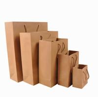 Shopping Bags shopping bags paper - Piece No Printing Brown paper bag Shopping Bags Size x60x120mm