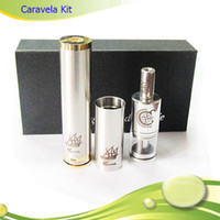 Single Metal  2014 High Quality Caravel Kit Caravela Atomizer Mechanical Mod Full Kit Electronic Cigarette Use 18650 18350 Battery E-Cigarette DHL Free