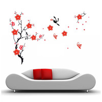 Wholesale S5Q New Blossom Flowers Tree Wall Stickers Mural Art Decal Self Adhesive Wallpaper Decor AAABQC