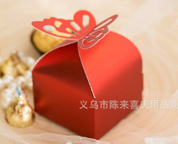 Wholesale New Arrive Pearl color Butterfly Candy Box baby shower Favor Box Wedding Box Birthday favor candy box gifts