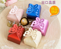 Wholesale Pearl color Butterfly Candy Box baby shower Favor Box Wedding Box Birthday favor candy box gifts