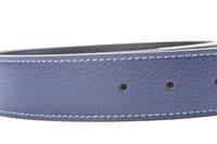 Fashion Genuine Leather Belt Slide Strap Without Buckle