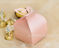 Favor Boxes Pink Paper Fashion Hot Pearl color Butterfly Candy Box baby shower Favor Box Wedding Box Birthday favor candy box gifts