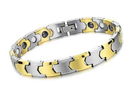 Wholesale Fashion Energy Magnetic Pure Tungsten Bracelets with k Gold Plated Health Magnets Jewelry
