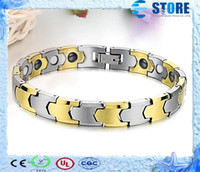 Wholesale Health Fashion Magnetic Pure Tungsten Energy Bracelets with k Gold Plated Health Magnets Jewelry