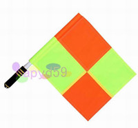 Wholesale free ship brand new soccer referee flag Football Referee linesman flag Soccer referee equipment HOT