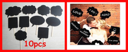 Wholesale 10cs Wedding or Engagement Photo Booth Props Cloud Speech Bubbles on a Stick Wedding Garland Bridal Shower Favor Party Supplies
