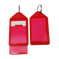 Wholesale Key Fobs Lage ID Tags with Key Ring quot X1 quot Color Transparent Red Pack of